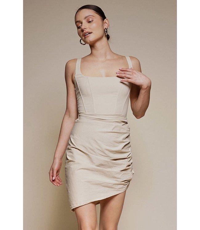 Seek The Label Corset Ruched Mini Dress