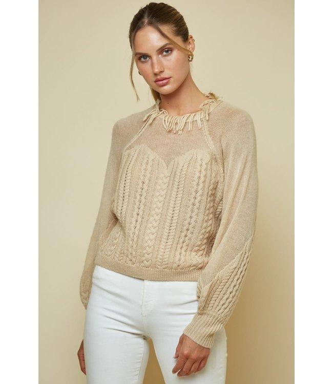 Seek The Label Mini Tassles Detail Sweater