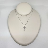 Premium 10K Diamond Cross Necklace