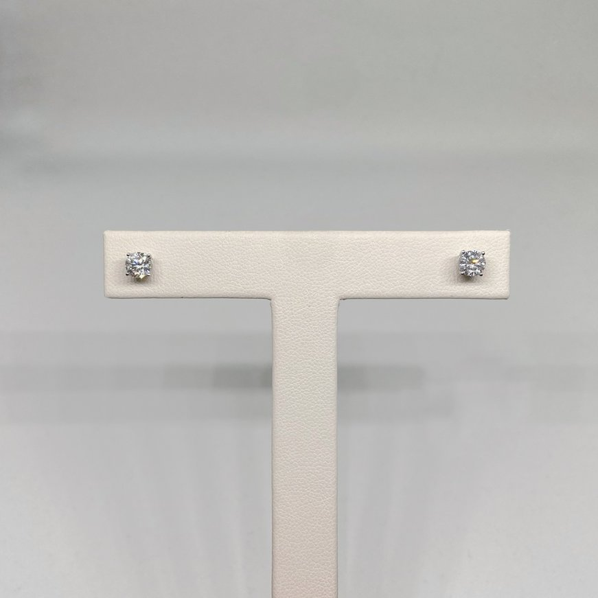 Premium .88 Carat Total Weight Diamond Stud Earrings