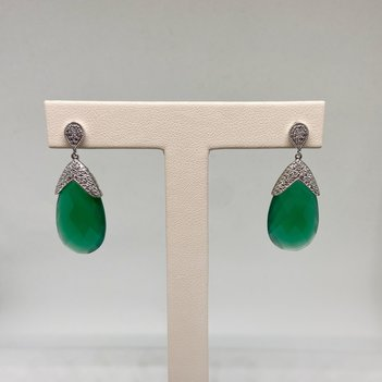 Premium Green Agate Earrings