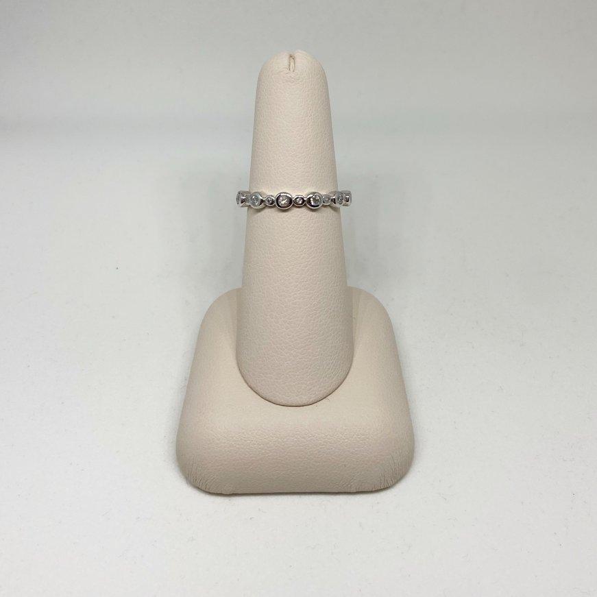 Transelco Bezel Set Diamond Stackable Ring