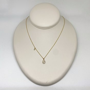 B&R Gold Diamond Cluster Necklace