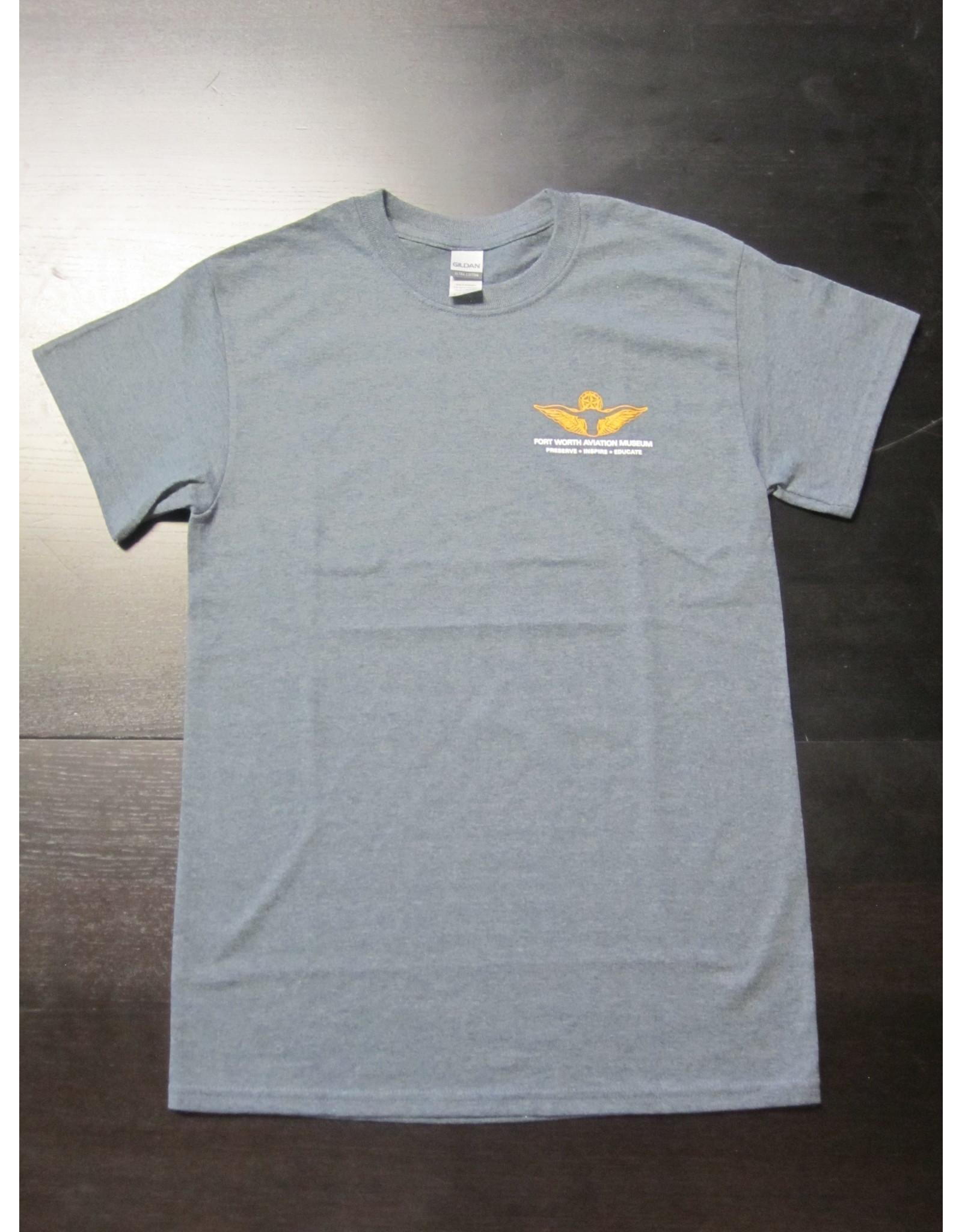 Gildan Skyline T-Shirt Men Screen Print Dark Heather M