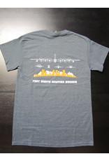 Gildan Skyline T-Shirt Men Screen Print Dark Heather S