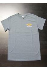 Gildan Skyline T-Shirt Men Screen Print Dark Heather L