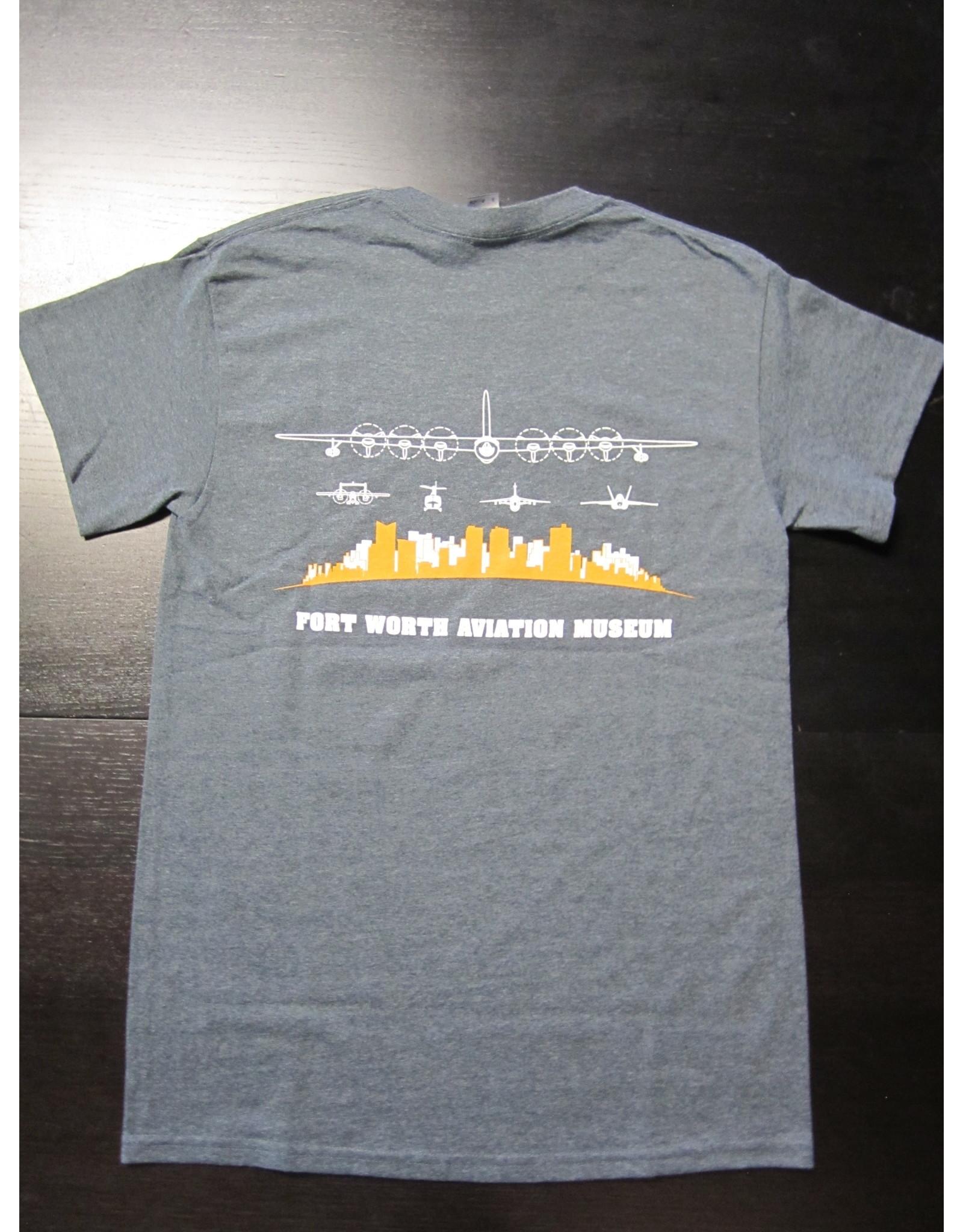 Gildan Skyline T-Shirt Men Screen Print Dark Heather XL