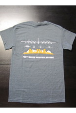 Gildan Skyline T-Shirt Men Screen Print Dark Heather XXL