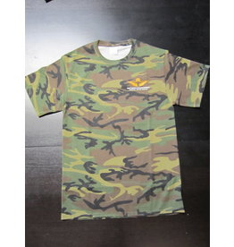 Port & Company Skyline T-Shirt Men Screen Print Military Camo S