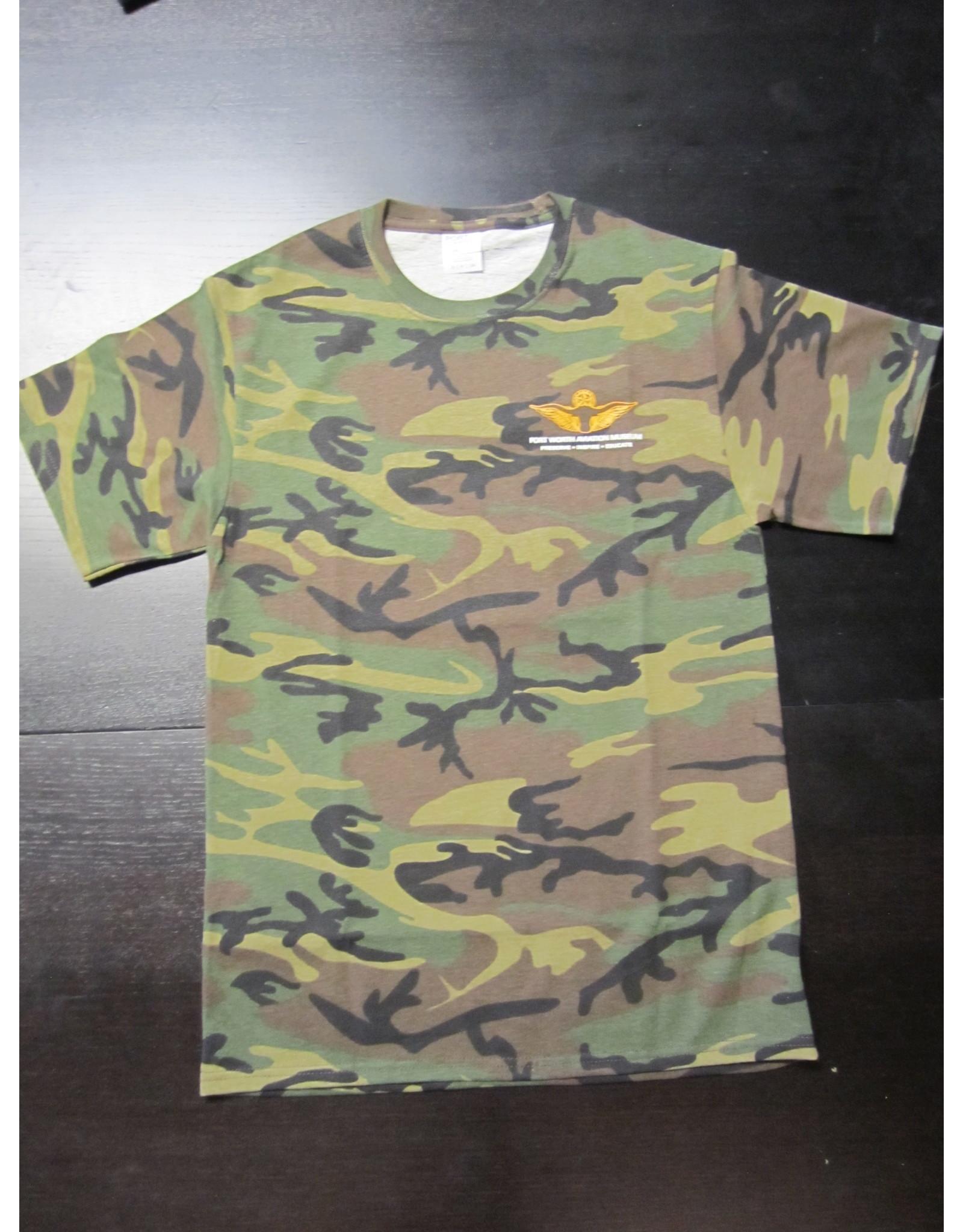 Port & Company Skyline T-Shirt Men Screen Print Military Camo M