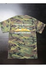 Port & Company Skyline T-Shirt Men Screen Print Military Camo L