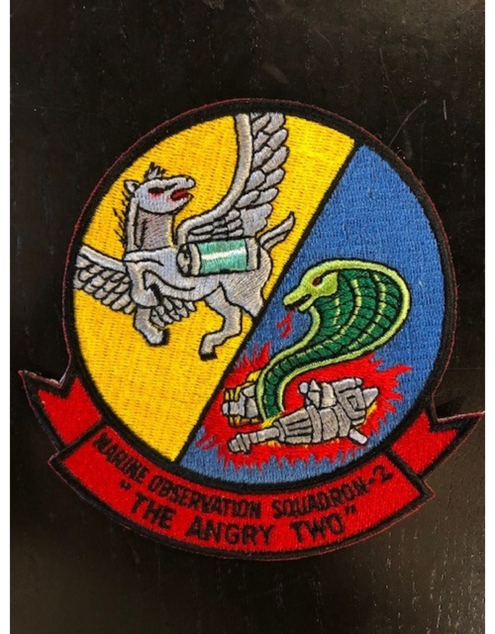 """Marine Observation Squadron Two """"The Angry Two"""" (10) Large Patch"""