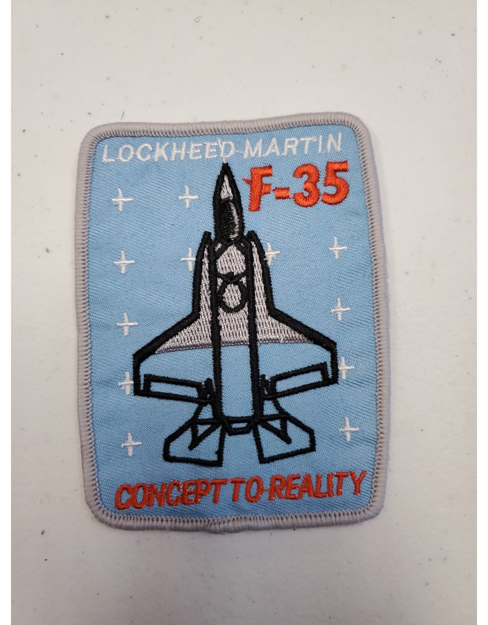 Lockheed F-35 Concept to Reality Square Patch