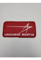 Lockheed Martin Logo Red Square Patch