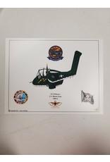 Green Marine OV-10 Caricature Print