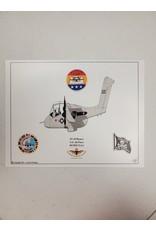Grey AF OV-10 Caricature Print