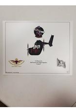 Black O-2 Skymaster Caricature Print