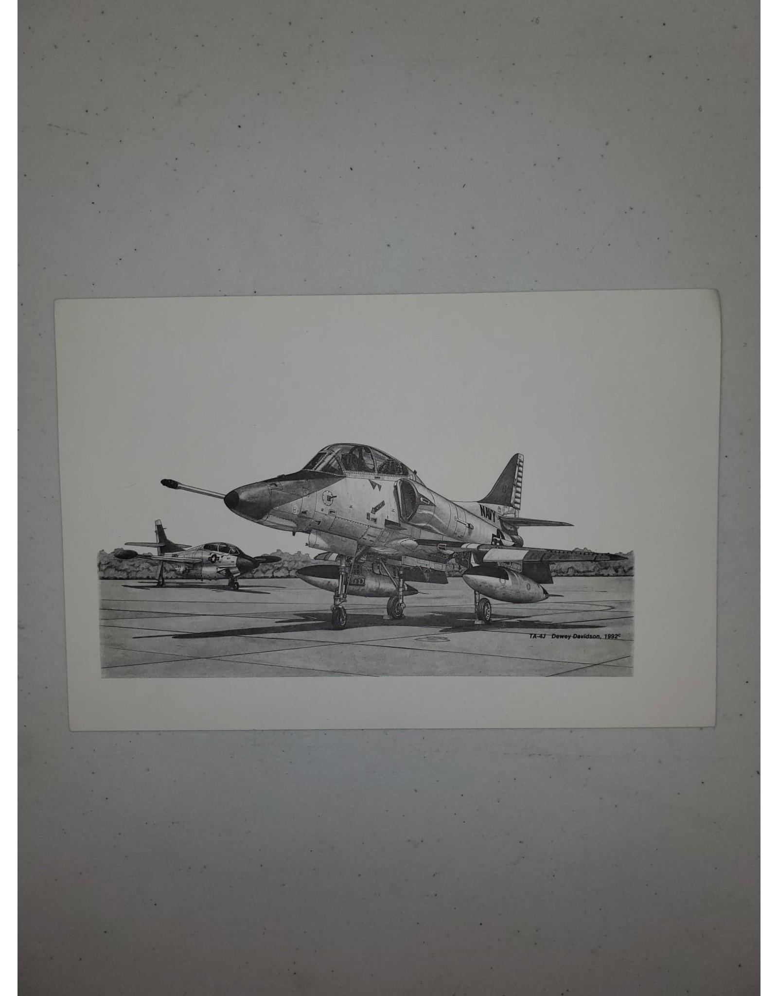 TA-4J 9x6 Pen and Ink Print