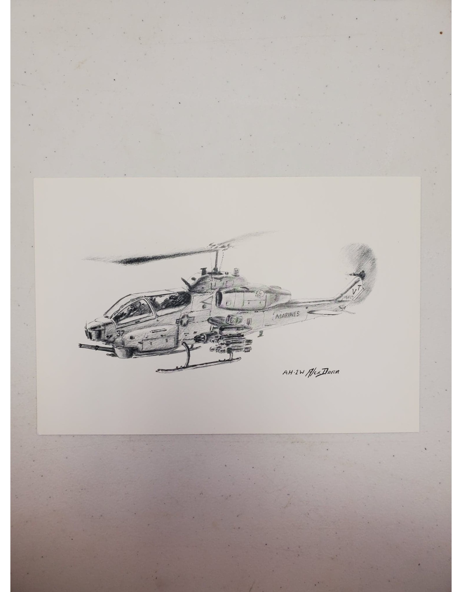 AH-2W Pen and Ink Print
