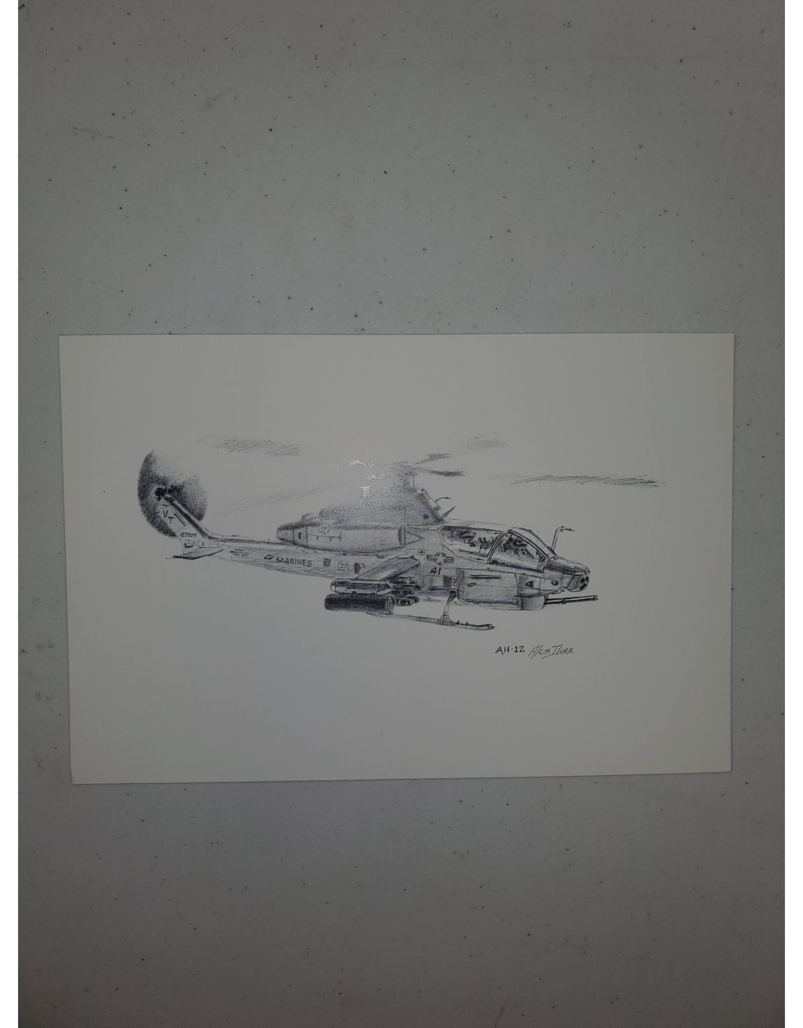 AH-1Z 9x6 Pen and Ink Print