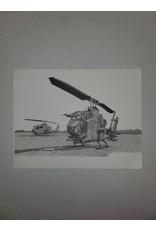 AH-1F Cobra 9x7 Pen and Ink Print