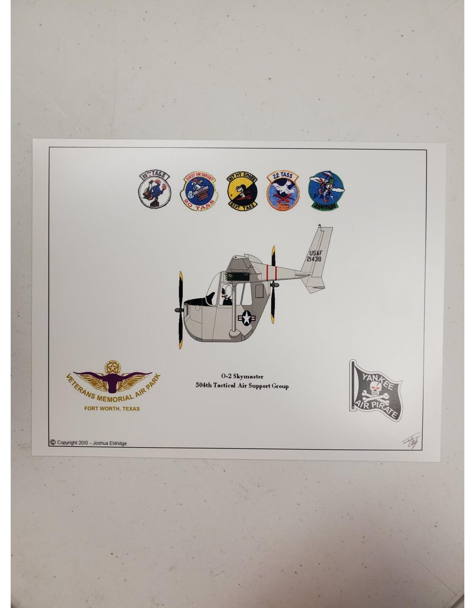 Grey O-2 Skymaster Caricature Print