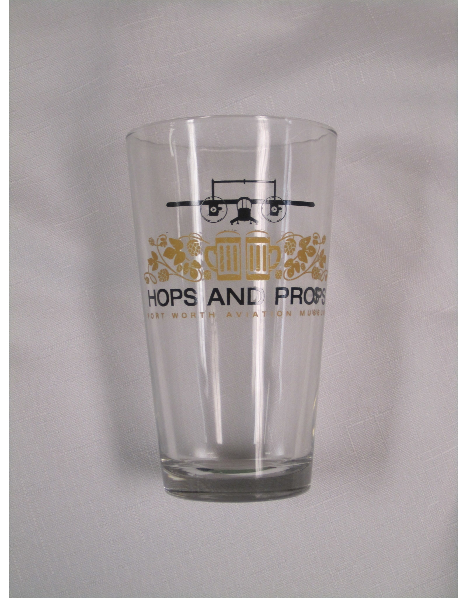Hops and Props Pint Beer Glasses