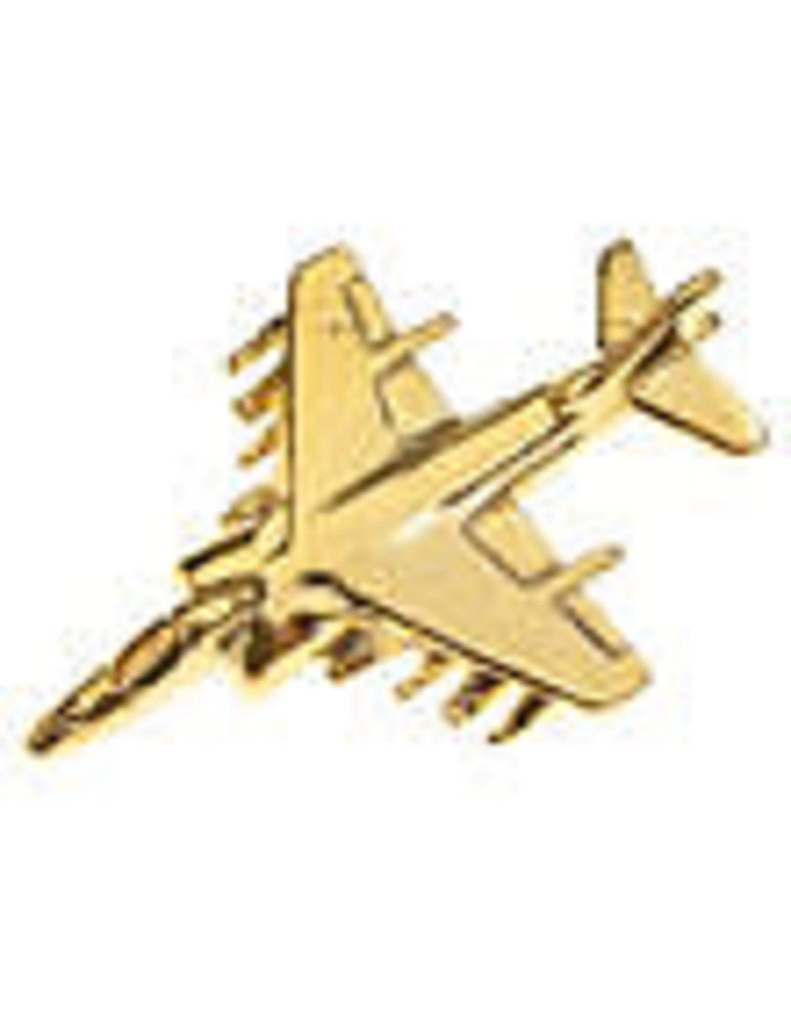 Clivedon Pin Badge AV-8 Harrier, Pin, Gold