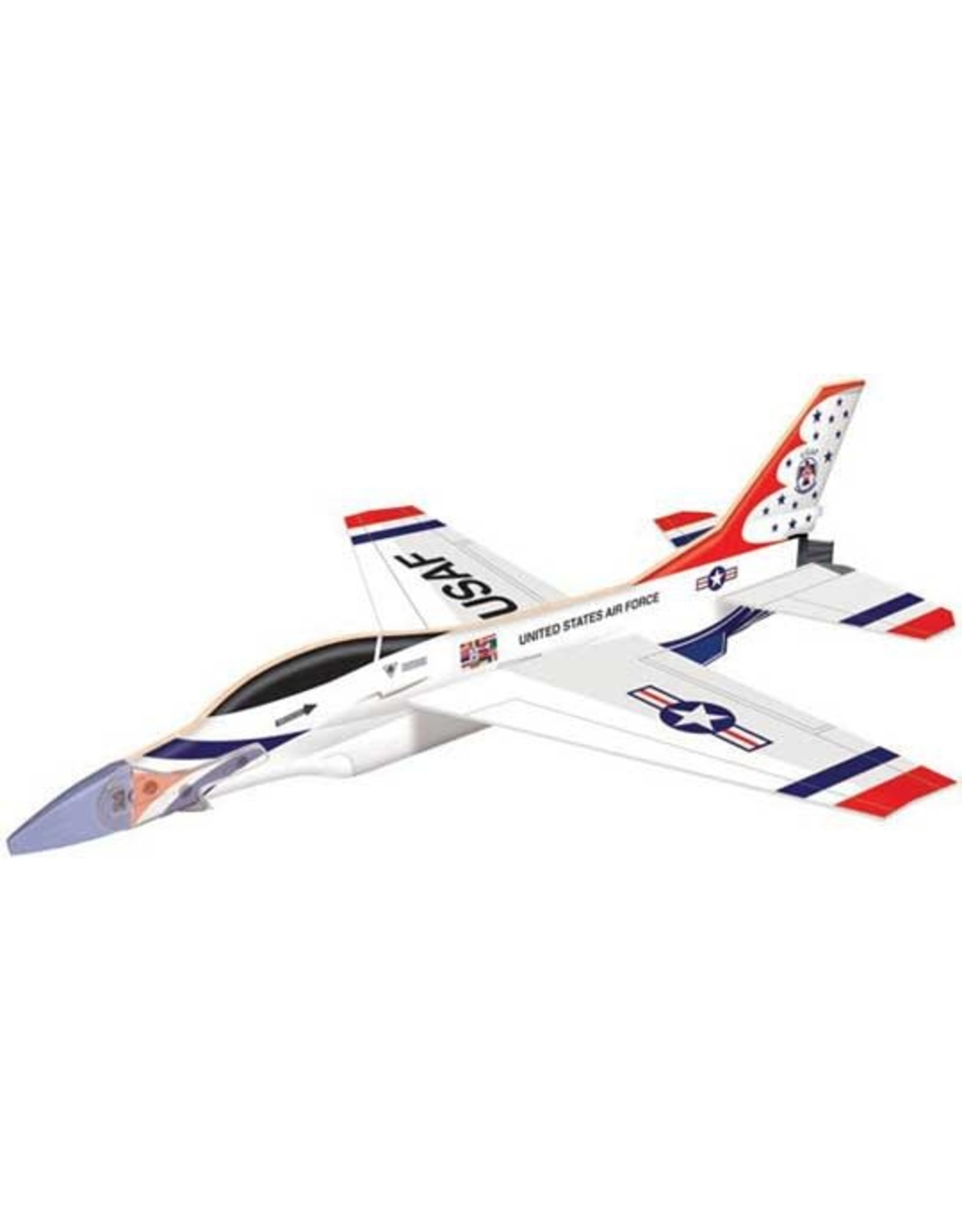 Smithsonian F-16 Fighting Falcon Thunderbirds Glider 11 1/2 ""