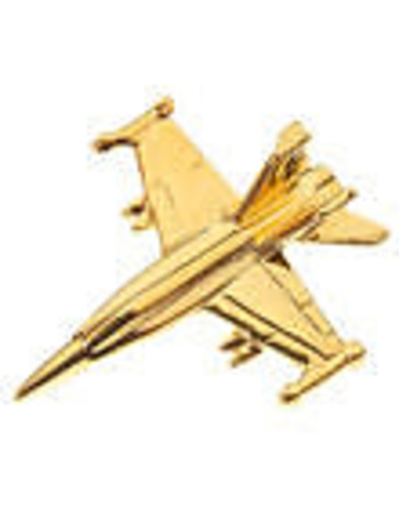 Clivedon Pin Badge FA-18 Hornet, Pin, gold