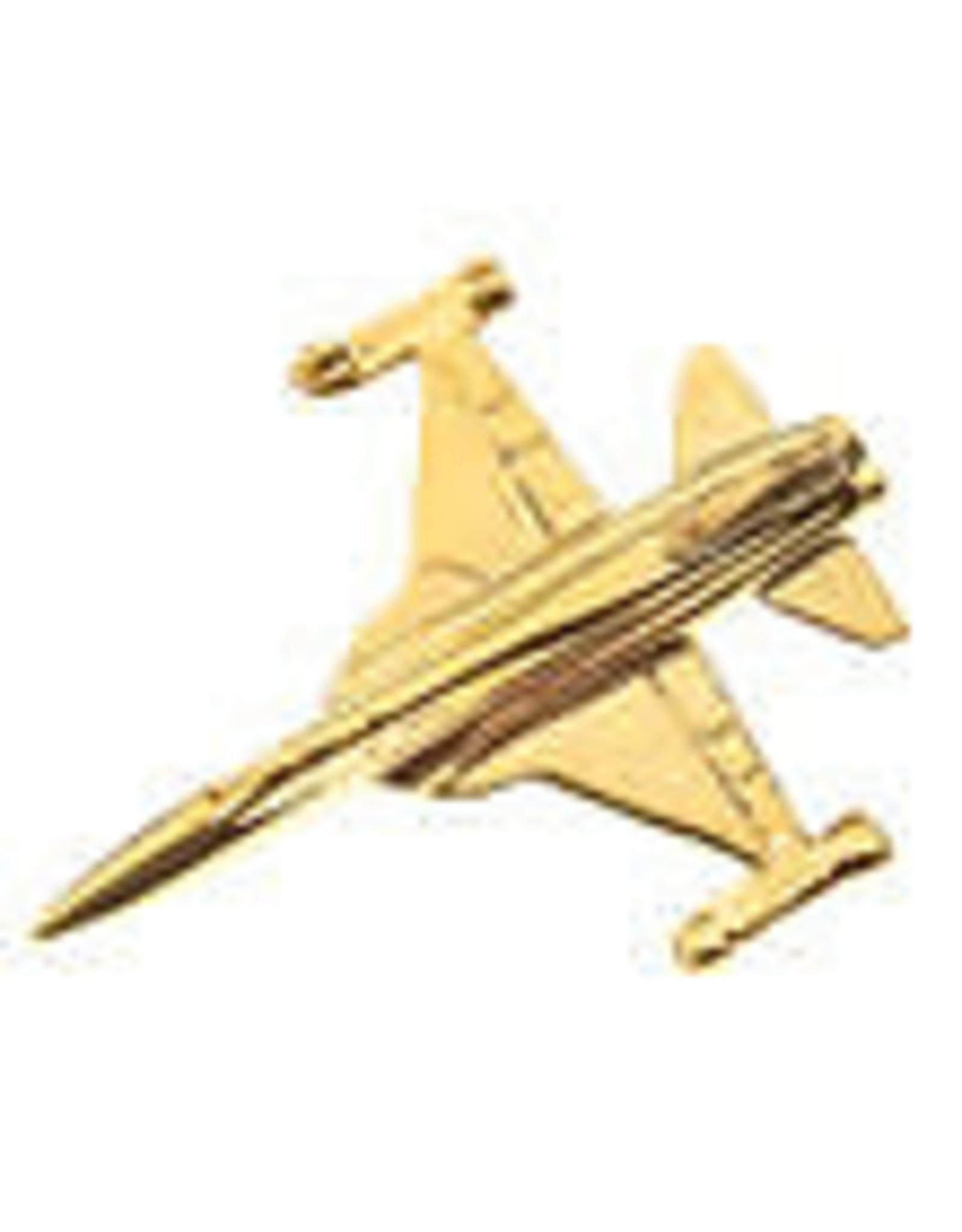 Clivedon Pin Badge F-5 Tiger II, Pin, gold