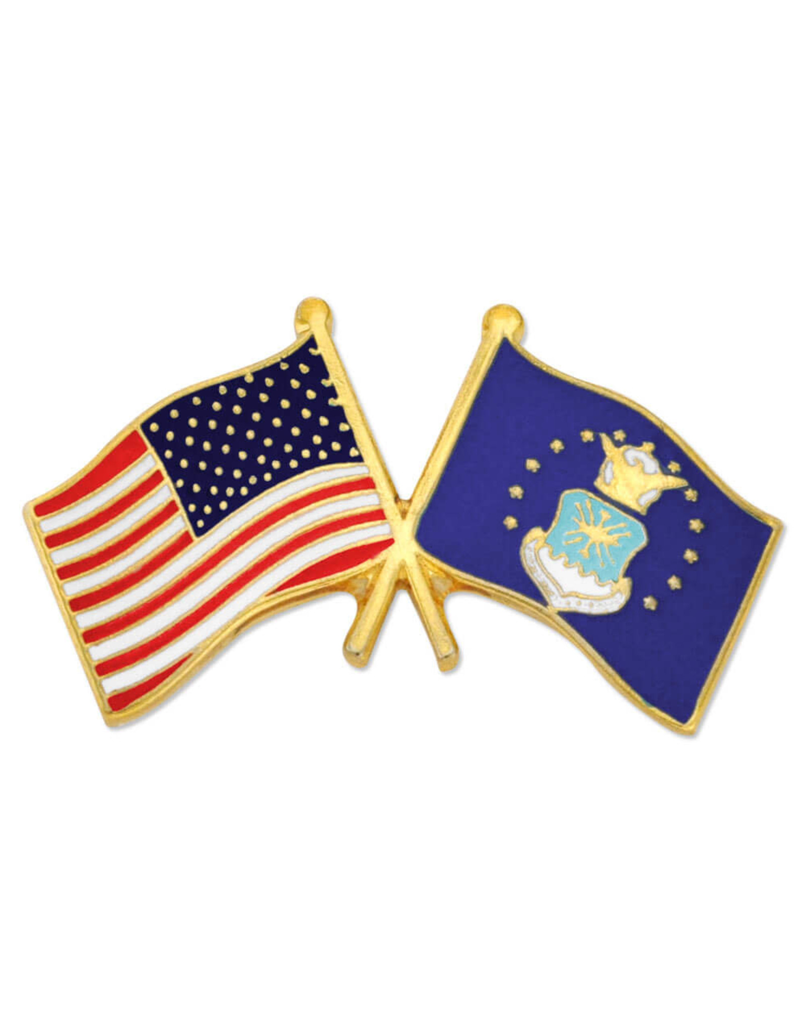 FWAM USA and US Air Force Flags, Pin