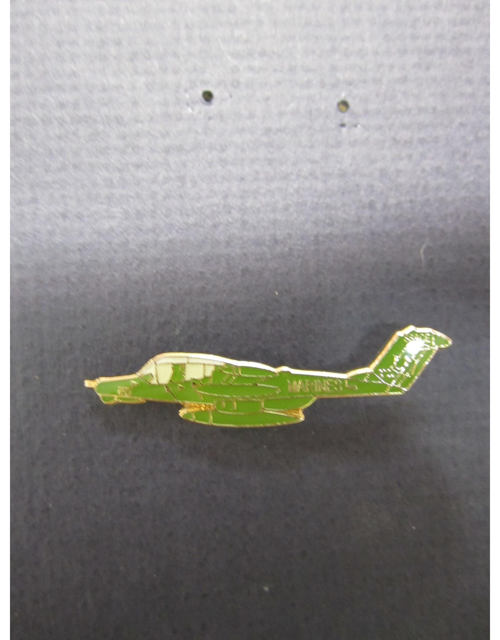 "FWAM OV-10D USMC, Enamel Pin, green ""long-nosed"""