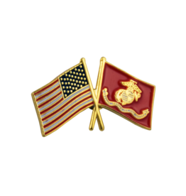FWAM USA and US Marine Corp Flags, Pin