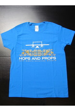 Hops and Props T-shirt Ladies Blue