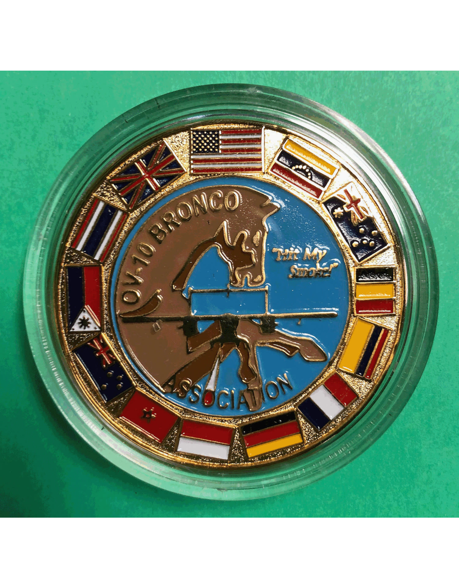 OV-10 Bronco Association Flags Coin