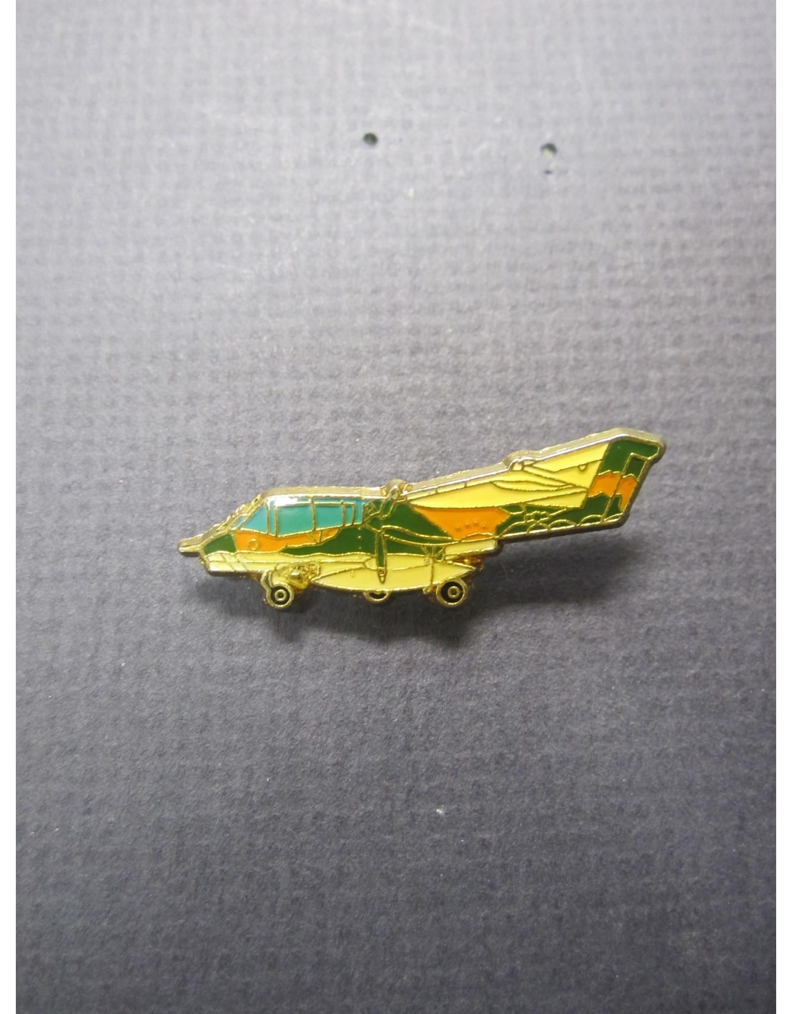Enamel Camouflage OV-10 pin, Green, orange, white