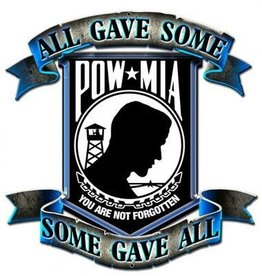 Silver/Black POW/MIA Pin