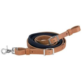 """Weaver Leather Weaver Barrel Reins with Rubber Grip 3/4"""" x 8'"""