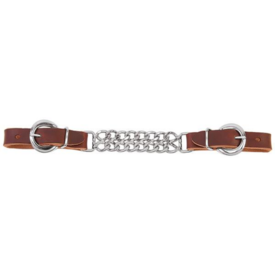 """Weaver Leather Weaver Harness Leather 4-1/2"""" Double Flat Link Chain Curb Strap"""