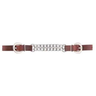 "Weaver Leather Weaver Working Cowboy 4-1/2"" Double Flat Link Curb Strap"