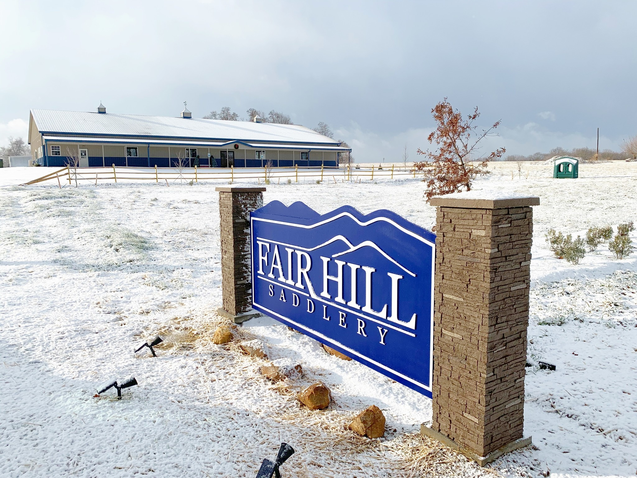 fair hill saddlery elkton maryland snow
