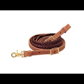 "Weaver Leather Weaver Braided Roper Rein 5-Plait 3/4"" x 8'"