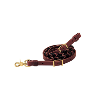 "Weaver Leather Weaver Two-Tone Latigo Leather 5-Plait Roper Rein 3/4"" x 8'"
