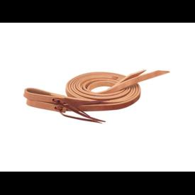 "Weaver Leather Weaver Russet Single-Ply Extra Heavy Harness Split Reins 5/8"" x 8'"