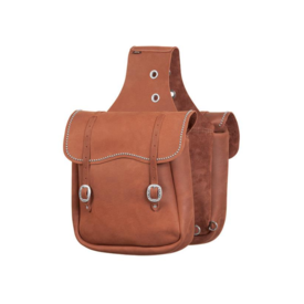 Weaver Leather Weaver Chap Leather Saddle Bag with Spots