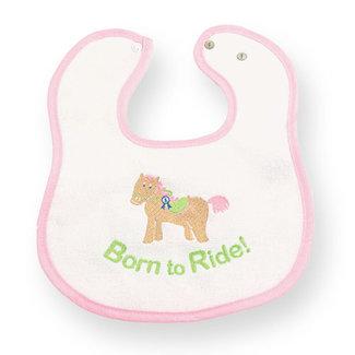 Born To Ride Pony Horse Baby Feeding Bib Gift