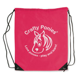 Crafty Ponies Crafty Ponies Red Drawstring Bag