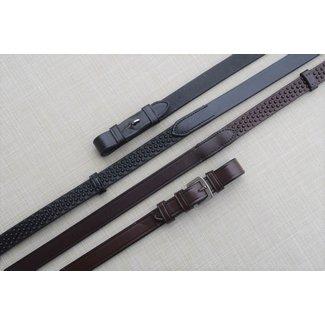 "Black Oak Black Oak 3/4"" Pebble Grip Rubber Reins with Stops"