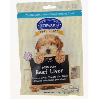 Stewart Stewart Pro-Treat Dog Treats Freeze Dried Beef Liver 4 oz.